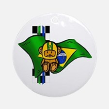 Brazilian Racing Round Ornament
