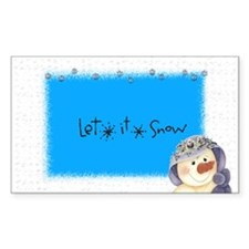 let it snow ladysno Rectangle Decal