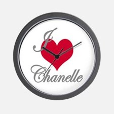I love (heart) Chanelle Wall Clock