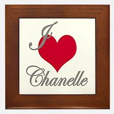 I love (heart) Chanelle Framed Tile