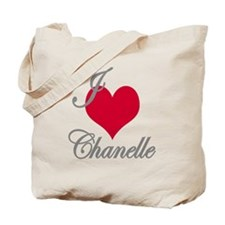 I love (heart) Chanelle Tote Bag