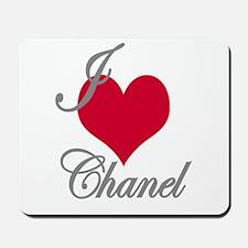 I love (heart) Chanel Mousepad
