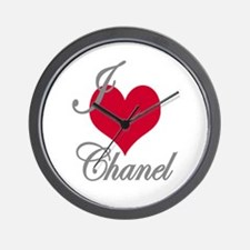 I love (heart) Chanel Wall Clock