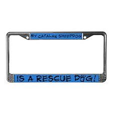 Rescue Dog Catalan Sheepdog License Plate Frame