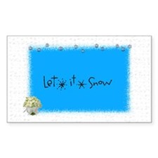let it snow boque Rectangle Decal