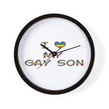 I Heart My Gay Son Wall Clock