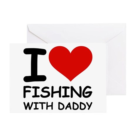FISHING WITH DADDY Greeting Card