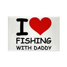 FISHING WITH DADDY Rectangle Magnet (100 pack)