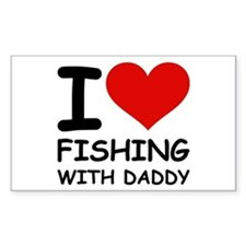 FISHING WITH DADDY Rectangle Decal