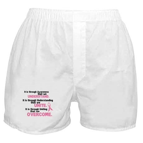 Through Awareness 1 (Breast Cancer) Boxer Shorts