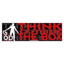 Think Outside Box Bumper Bumper Sticker