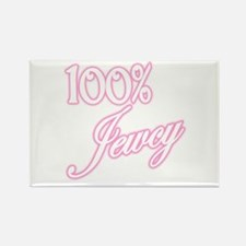 100% Jewcy - Pink Rectangle Magnet