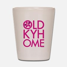 Pink OLD KY HOME Shot Glass
