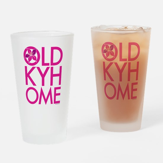 Pink OLD KY HOME Drinking Glass
