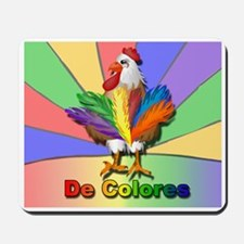 Rooster Tail De Colores Mousepad