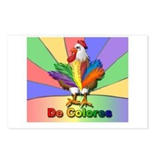 Rooster Tail De Colores Postcards (Package of 8)