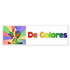 Rooster Tail De Colores Bumper Bumper Sticker