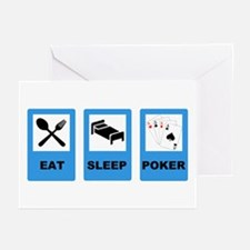 POKER EXIT Greeting Cards (Pk of 10)