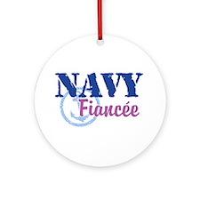 Navy Fiancee Ornament (Round)