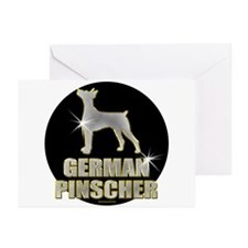 Bling Ger. Pinscher Greeting Cards (Pk of 20)