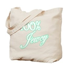 100% Jewcy - Green Tote Bag