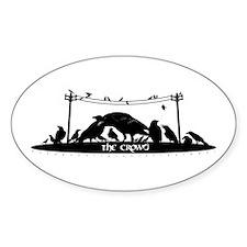 eXXagon's Crow-d Oval Sticker (10 pk)