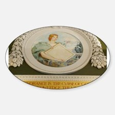 LIBRARY OF CONGRESS NORTH WAL Oval Sticker (10 pk)