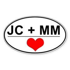 JC + MM Oval Decal