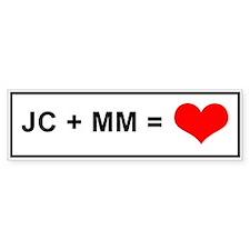 JC + MM Bumper Bumper Sticker