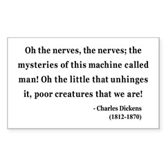 Charles Dickens 19 Rectangle Decal