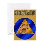 5x7-camel-goldback-congratrev1 Greeting Cards