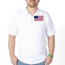 Red White and Blue Golf Shirt