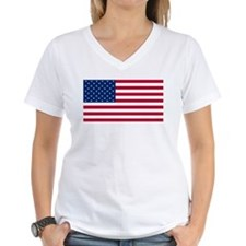 Red White and Blue Women's V-Neck T-Shirt