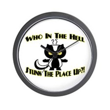 Who In The Hell Wall Clock