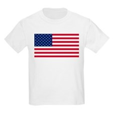 Red White and Blue Kids Light T-Shirt