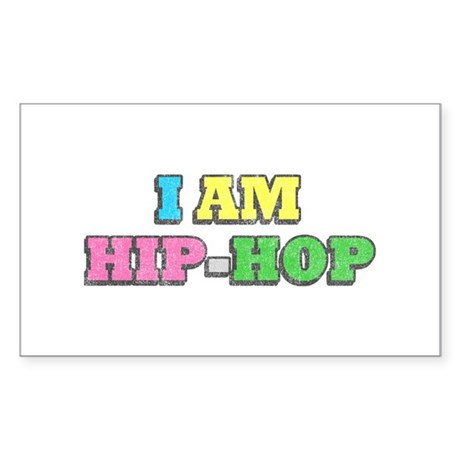 I Am Hip-Hop Rectangle Sticker