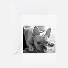Cute French bulldog note Greeting Card