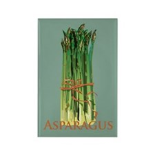 Green Asparagus Rectangle Magnet