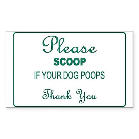 Scoop Poop Rectangle Sticker