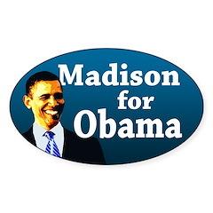 Madison for Obama bumper sticker