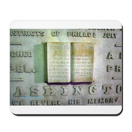 WASHINGTON MONUMENT SCRIPTURE Mousepad
