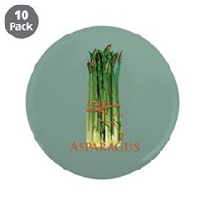 """Green Asparagus 3.5"""" Button (10 pack)"""