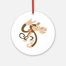 I Love You Monkey Ornament (Round)