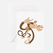 I Love You Monkey Greeting Card