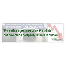 Will Rogers Quote Bumper Bumper Sticker