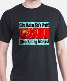 China Quakes God's Wrath Stop T-Shirt