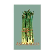 Green Asparagus Rectangle Decal