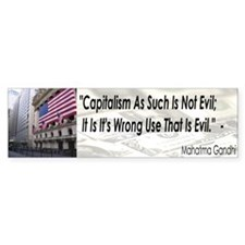 Gandhi Quote Bumper Bumper Sticker
