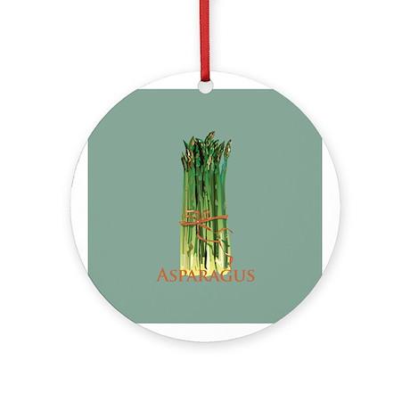 Green Asparagus Ornament (Round)