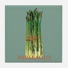 Green Asparagus Tile Coaster